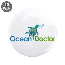 "Ocean Doctor Logo 3.5"" Button (10 pack)"
