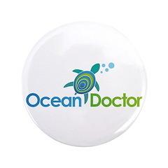 """Ocean Doctor Logo 3.5"""" Button"""