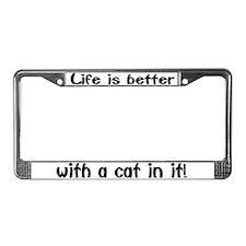 """Cat"" License Plate Frame"