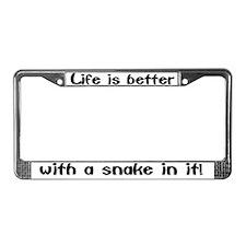 """""""Snake"""" License Plate Frame"""