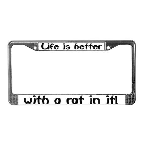 u0026quot rat u0026quot  license plate frame by dingostuff