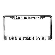 """""""Rabbit"""" License Plate Frame"""