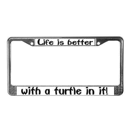 """Turtle"" License Plate Frame"