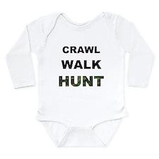 Crawl Walk Hunt Onesie Romper Suit