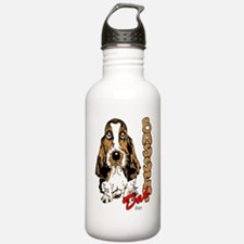 Basset dad Water Bottle