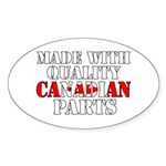 Quality Canadian Parts Sticker (Oval)