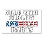 Quality American Parts Sticker (Rectangle)