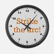 Strike the arc! Large Wall Clock