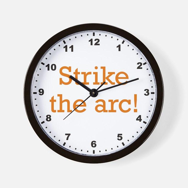 Strike the arc! Wall Clock
