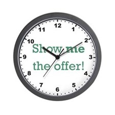 Show me the Offer! Wall Clock