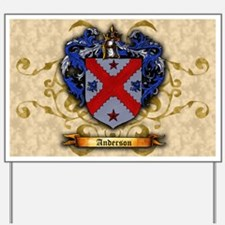 Anderson Coat of Arms Yard Sign