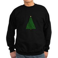Binary Merry Christmas Tree Sweatshirt