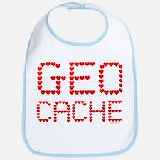 Geocache Heart Text Bib