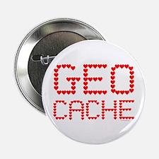 """Geocache Heart Text 2.25"""" Button (100 pack)"""