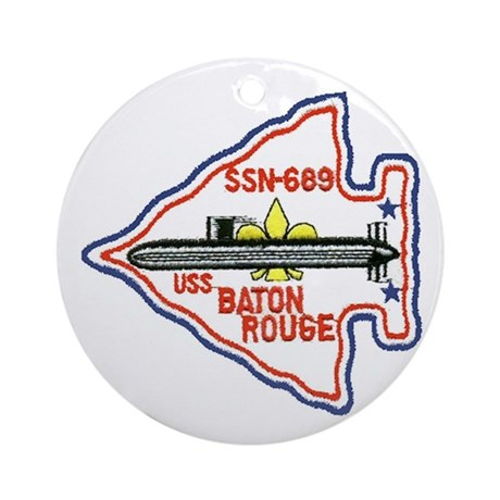 USS Baton Rouge SSN 689 Ornament (Round)