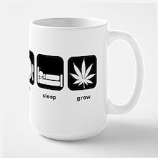 Eat Sleep Mary Jane Marijuana Large Mug