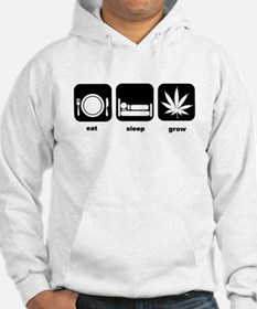 Eat Sleep Mary Jane Marijuana Hoodie Sweatshirt