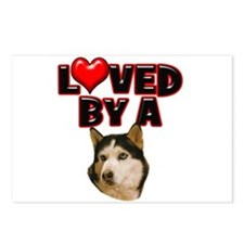 Loved by a Husky Postcards (Package of 8)