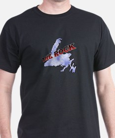 """The Rock"" with Sky Color Isl T-Shirt"