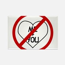 Anti Me and You Rectangle Magnet