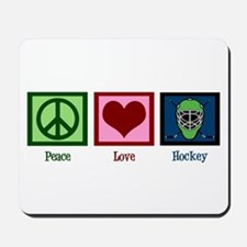 Peace Love Hockey Mousepad