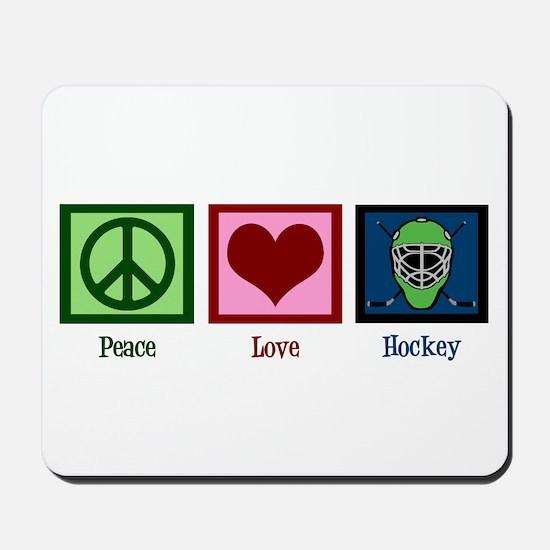 Peace Love Hockey Mousepad