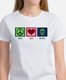 Peace Love Hockey Women's T-Shirt