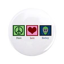 "Peace Love Hockey 3.5"" Button"