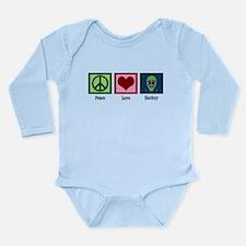 Peace Love Hockey Long Sleeve Infant Bodysuit