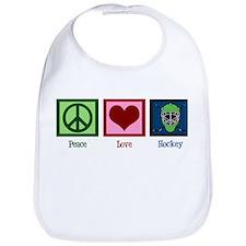 Peace Love Hockey Bib