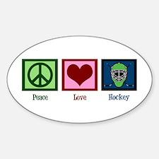 Peace Love Hockey Decal