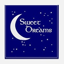 Sweet Dreams Moon Art Tile