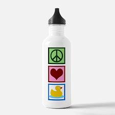 Peace Love Ducks Water Bottle