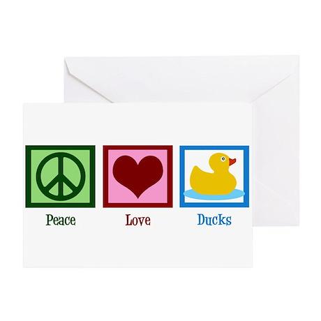 Peace Love Ducks Greeting Card