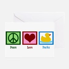 Peace Love Ducks Greeting Cards (Pk of 10)