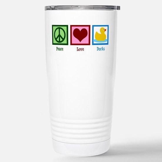 Peace Love Ducks Stainless Steel Travel Mug