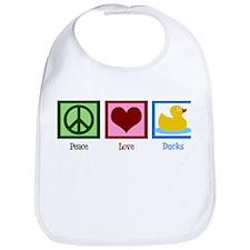 Peace Love Ducks Bib