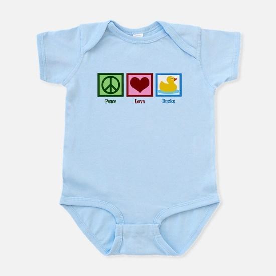 Peace Love Ducks Infant Bodysuit