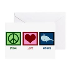 Peace Love Whales Greeting Card