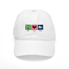Peace Love Whales Baseball Cap