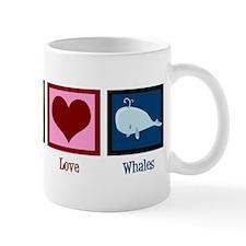 Peace Love Whales Mug