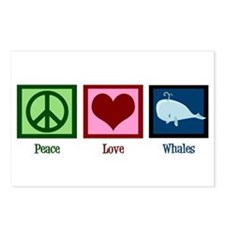 Peace Love Whales Postcards (Package of 8)