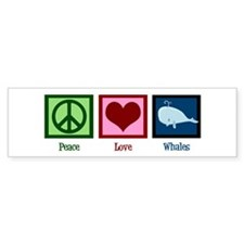 Peace Love Whales Bumper Sticker