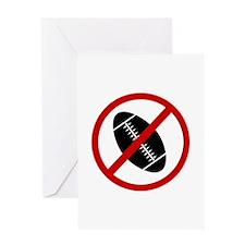 Anti Football Greeting Card