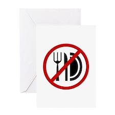 Anti Food Greeting Card
