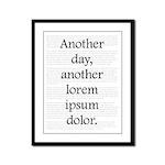 Another Lorem Ipsum Dolor - Framed Panel Print