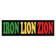 Iron Lion Zion Bumper Bumper Sticker