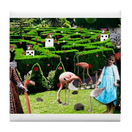 Croquet With The Queen Tile Coaster