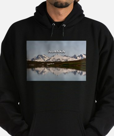 Alaska: Lake reflections of mountains Sweatshirt