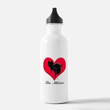 A Black Pomeranian Valentine Water Bottle